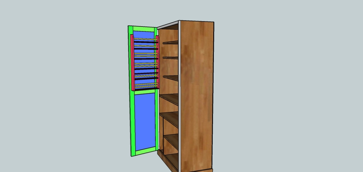 Plans for a pantry cabinet onecar wood for Cost to build a pantry